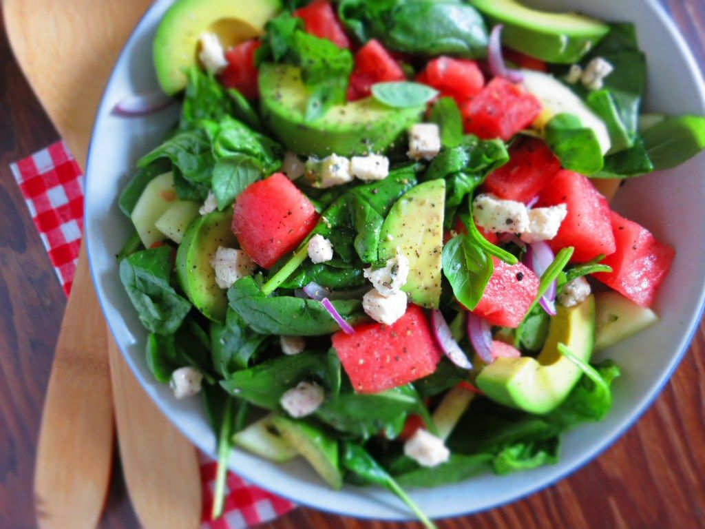 Watermelon and Avocado Salad With Feta