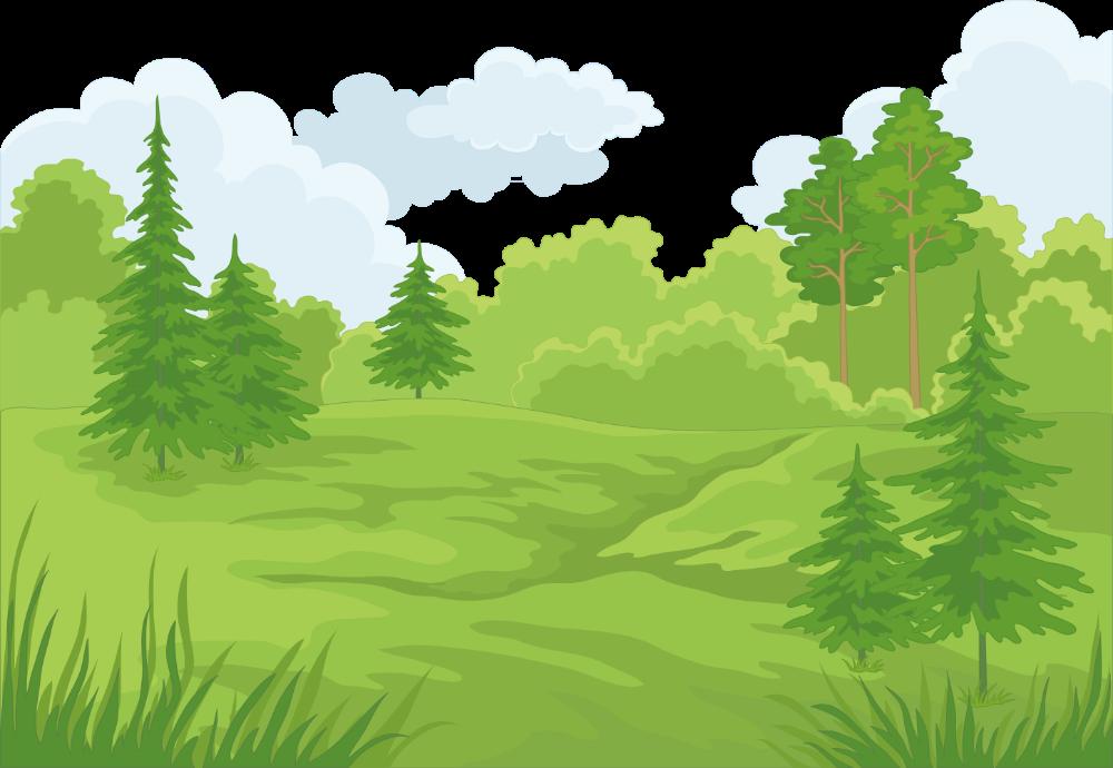 Forest Cartoon Landscape Clip Art Vector Castle Forest Free Download Vector 5792x4002 Png Download Forest Cartoon Forest Scenery Summer Landscape