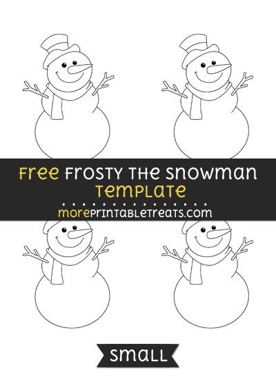 Free Frosty The Snowman Template  Small  Christmas Printables
