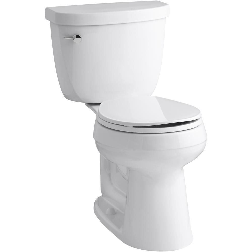 Kohler Cimarron 2 Piece Complete Solution 1 28 Gpf Single Flush Round Toilet In White Slow Close Seat Included K 78249 0 The Home Depot In 2020 Kohler Cimarron Cimarron Kohler
