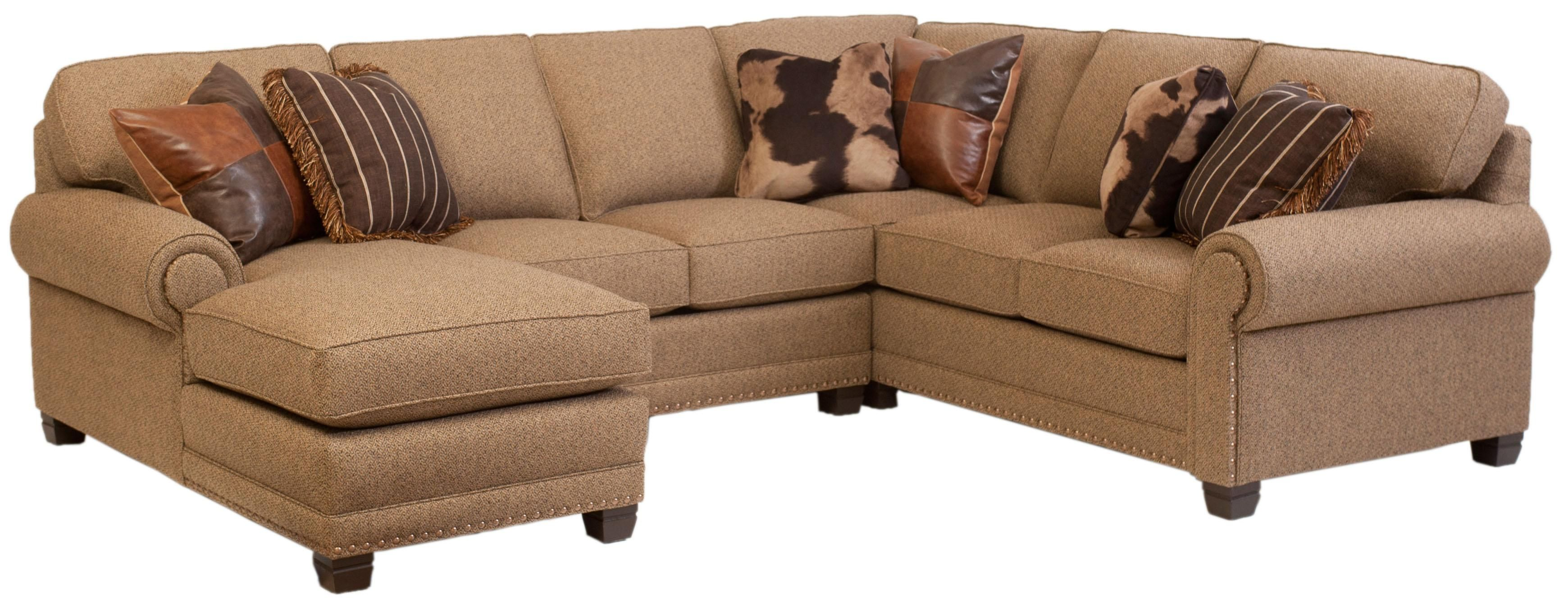 Traditional 3 Piece Sectional Sofa With Left Arm Facing Chaise