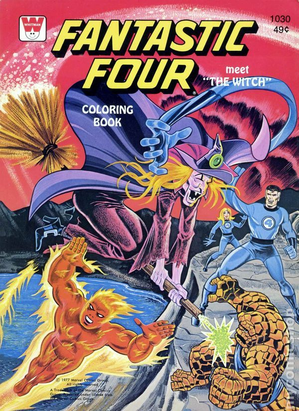 Fantastic Four Coloring Book SC #WH-1030 | Coloring books ...