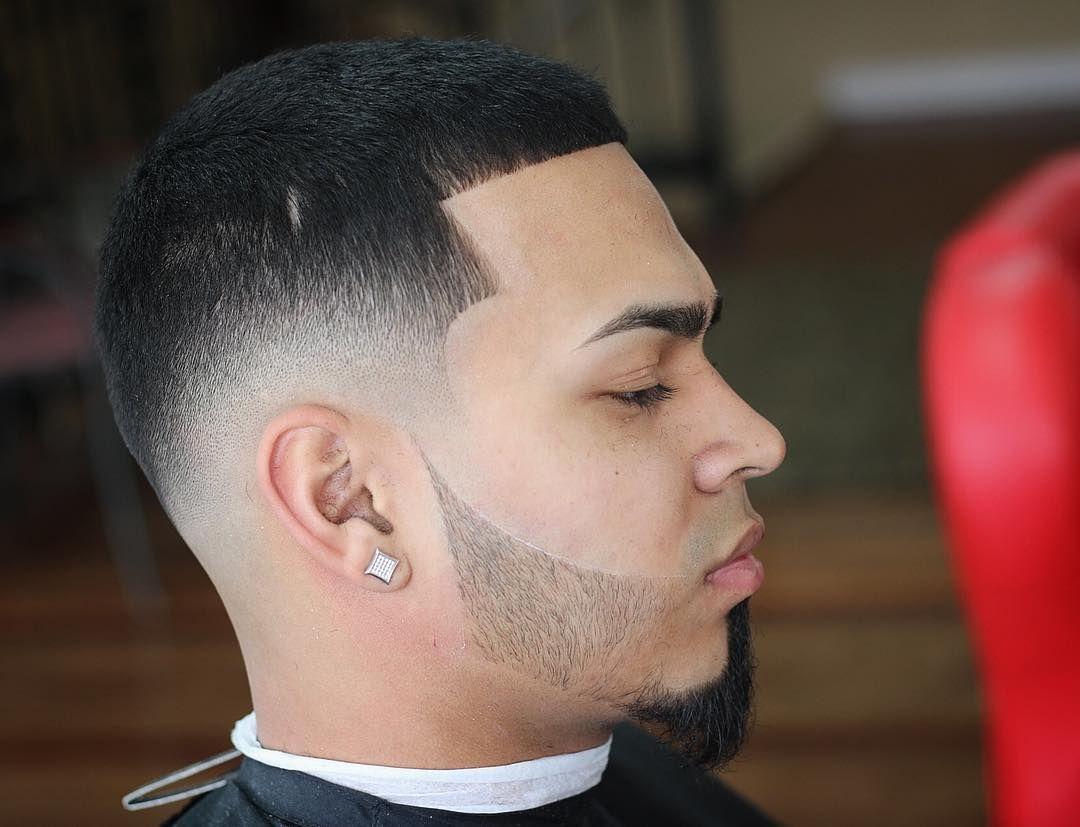 Sharp Fade Haircut Van Dyk Beard Styles For Men Penteados Masculinos Penteados Masculino