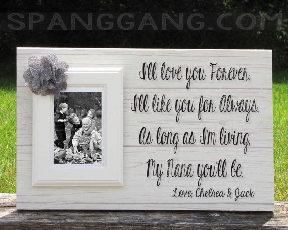 personalized gift for grandma nana great grandma granny mimi mothers day gift idea personalized photo frame picture frame