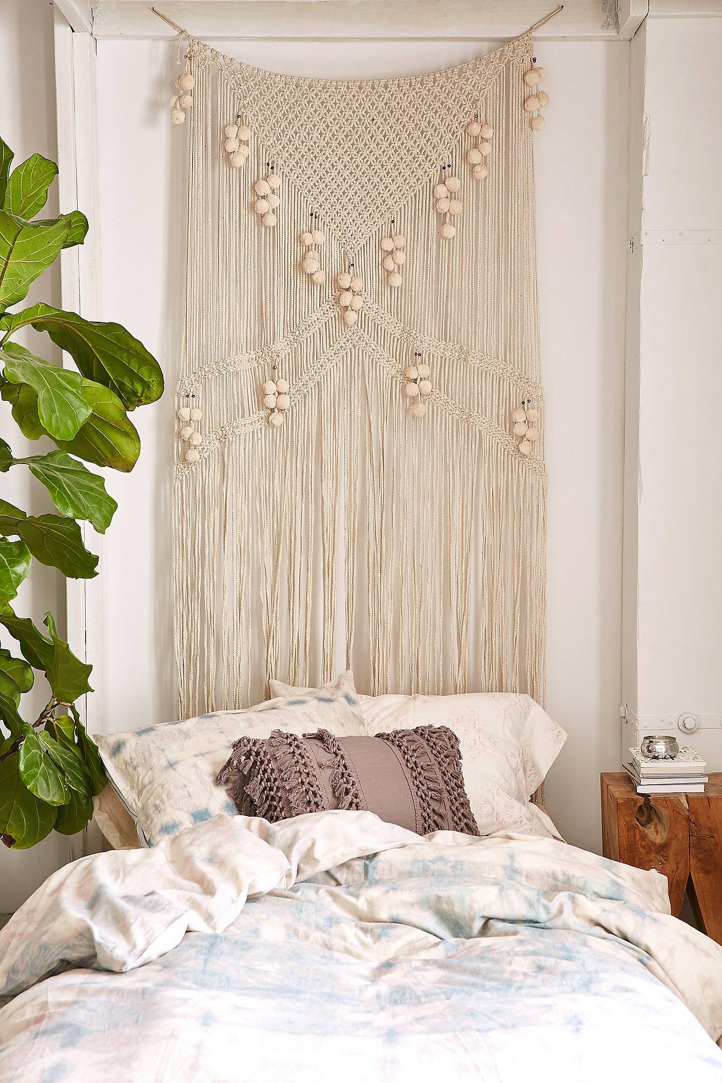 rideau en macram m tallique meda d co pinterest parement mural macram et deco. Black Bedroom Furniture Sets. Home Design Ideas