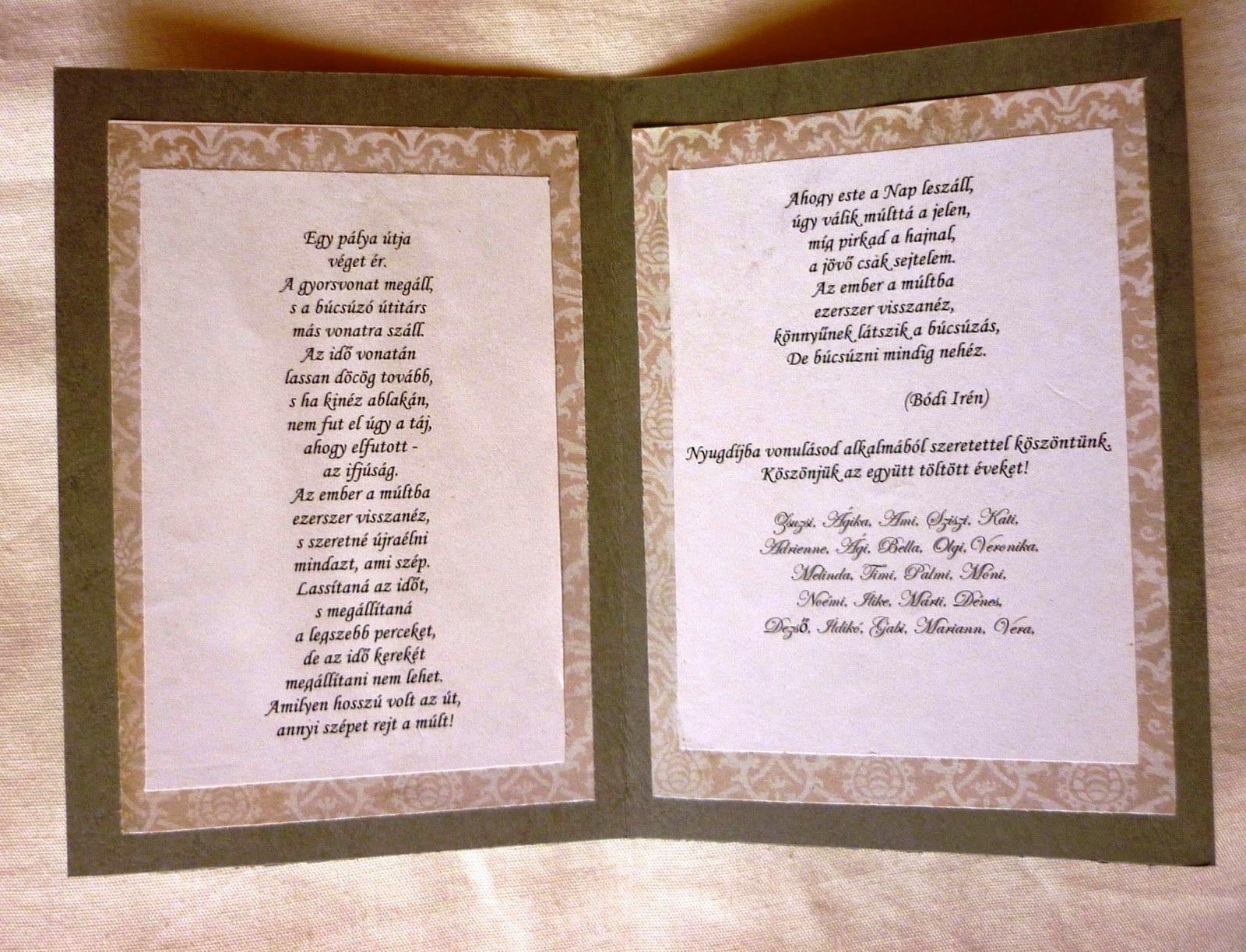"""nyugdíjas búcsúztatóra idézetek versek Képtalálat a következőre: """"nyugdíjas búcsúztatóra köszöntő"""