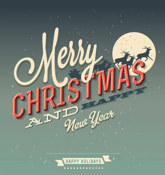 Vintage Vector merry christmas card design 01 20 Most Beautiful ...