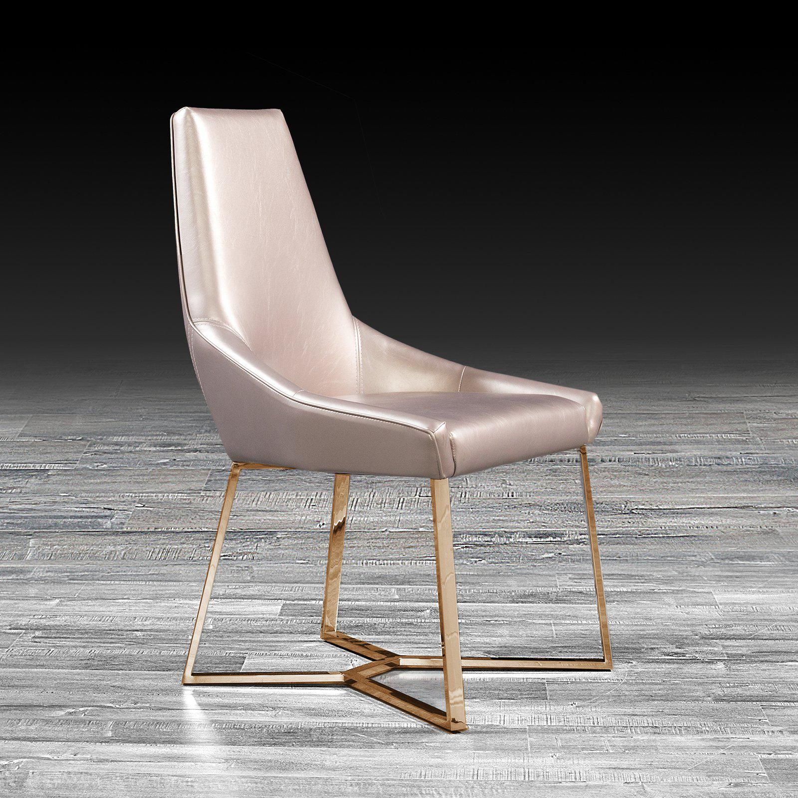 Lorensia Rose Gold Dining Chair With Images Gold Dining Chairs