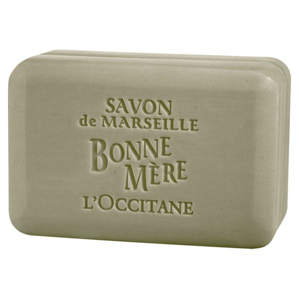 L'Occitane Olive Lavender soap.  Smells earthy and calming, rinses clean, and lasts forever.