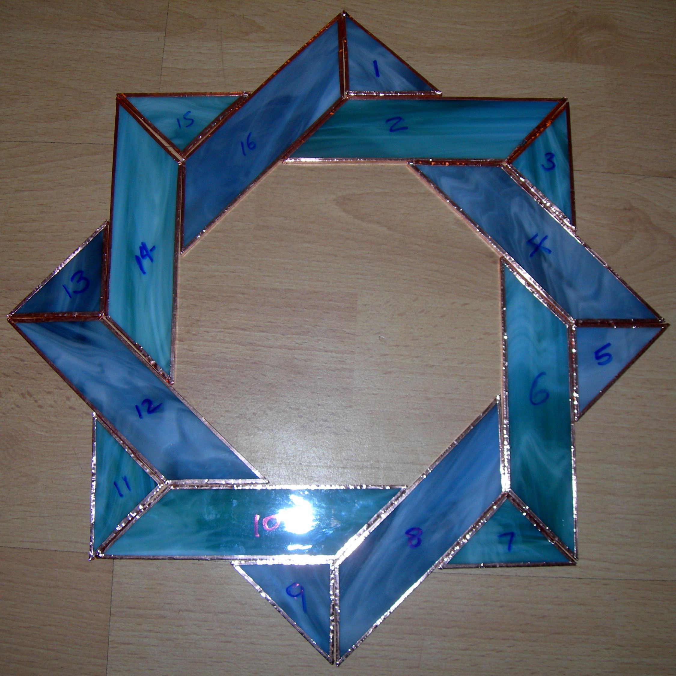 My First Ever Stained Glass Project  This Became A Mirror Frame