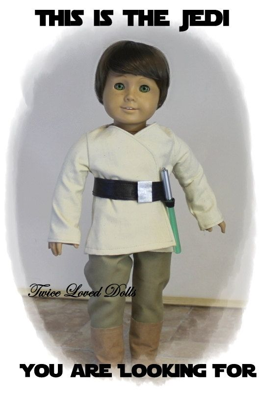 Jedi Star Wars Outfit 18 Inch Doll Clothes for by TwiceLovedDolls ...