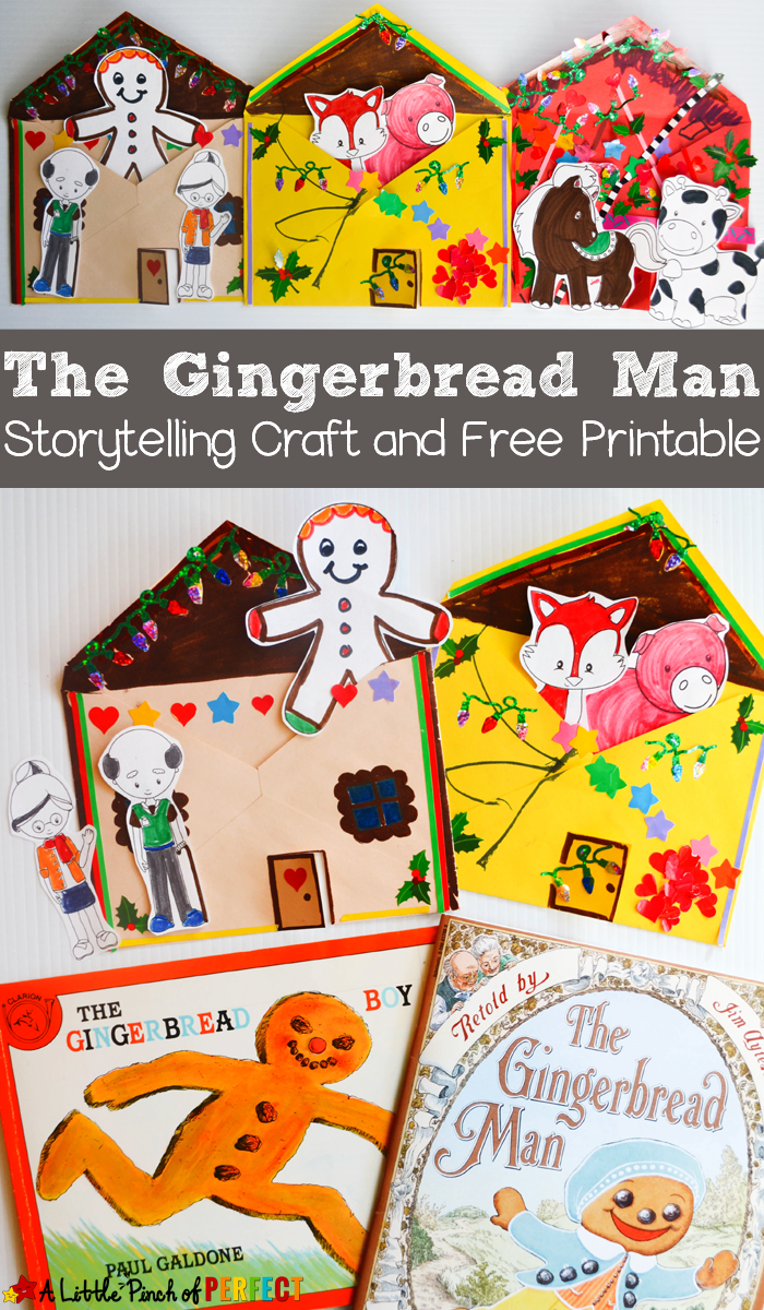the gingerbread man storytelling craft and free printable kids
