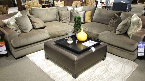 Cindy Crawford Fontaine Gray Suede Sectional Wish List Sectional Sofa Comfy Deep Couch Sectional Comfy Sectional
