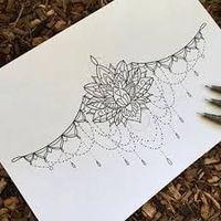 Resultado de imagen para lotus mandala underboob tattoo