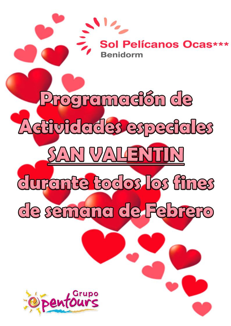 Hotel Sol Pelicanos Ocas *** (Benidorm, Alicante) ---- Programación de actividades especiales SAN VALENTÍN ---- Durante todos los fines de semana de Febrero 2018 ---- Más info y condiciones en www.opentours.es ---- #solpelicanos #solpelicanosocas #solmelia #benidorm #alicante #costablanca #sanvalentin2018 #escapadas #paquetes  #hoteles #vacaciones #estancias #ofertas #actividades #familias #niños #agentesdeviajes #agenciasdeviajes #opentours #grupoopentours