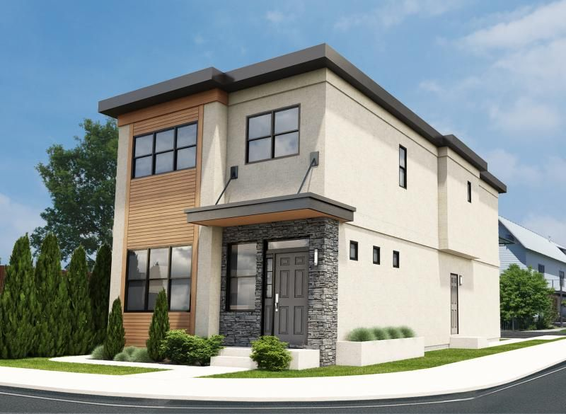 Plan Narrow Lot Contemporary Duplex House