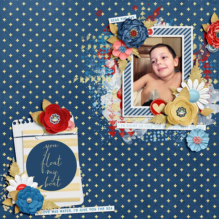 Layout using {You Float My Boat} Digital Scrapbook Kit by Meghan Mullens and Melissa Bennett available at Sweet Shoppe Designs http://www.sweetshoppedesigns.com//sweetshoppe/product.php?productid=30601&cat=745&page=2 #digiscrap #digitalscrapbooking #memorykeeping #meghanmullens #wilddandeliondesigns