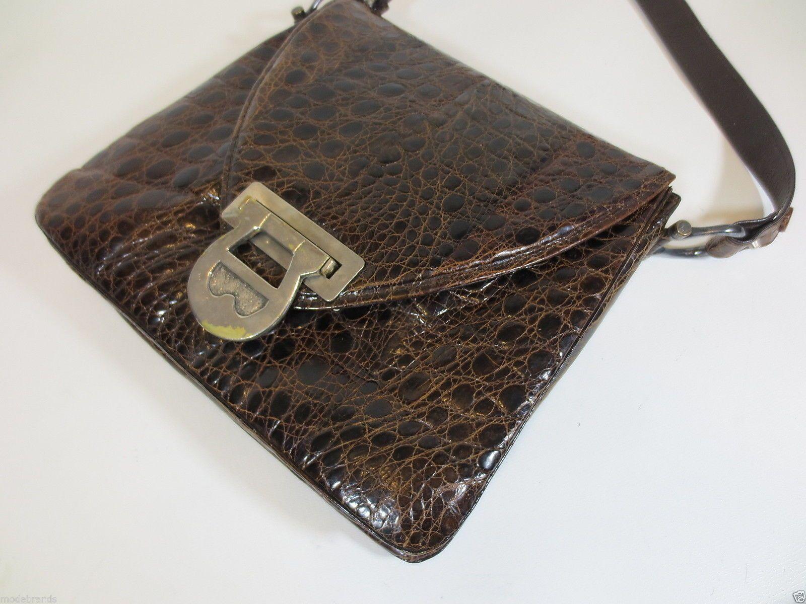 neuartiges Design begehrte Auswahl an Neu werden Handtasche Umhängetasche Etienne Aigner Leder braun vintage ...