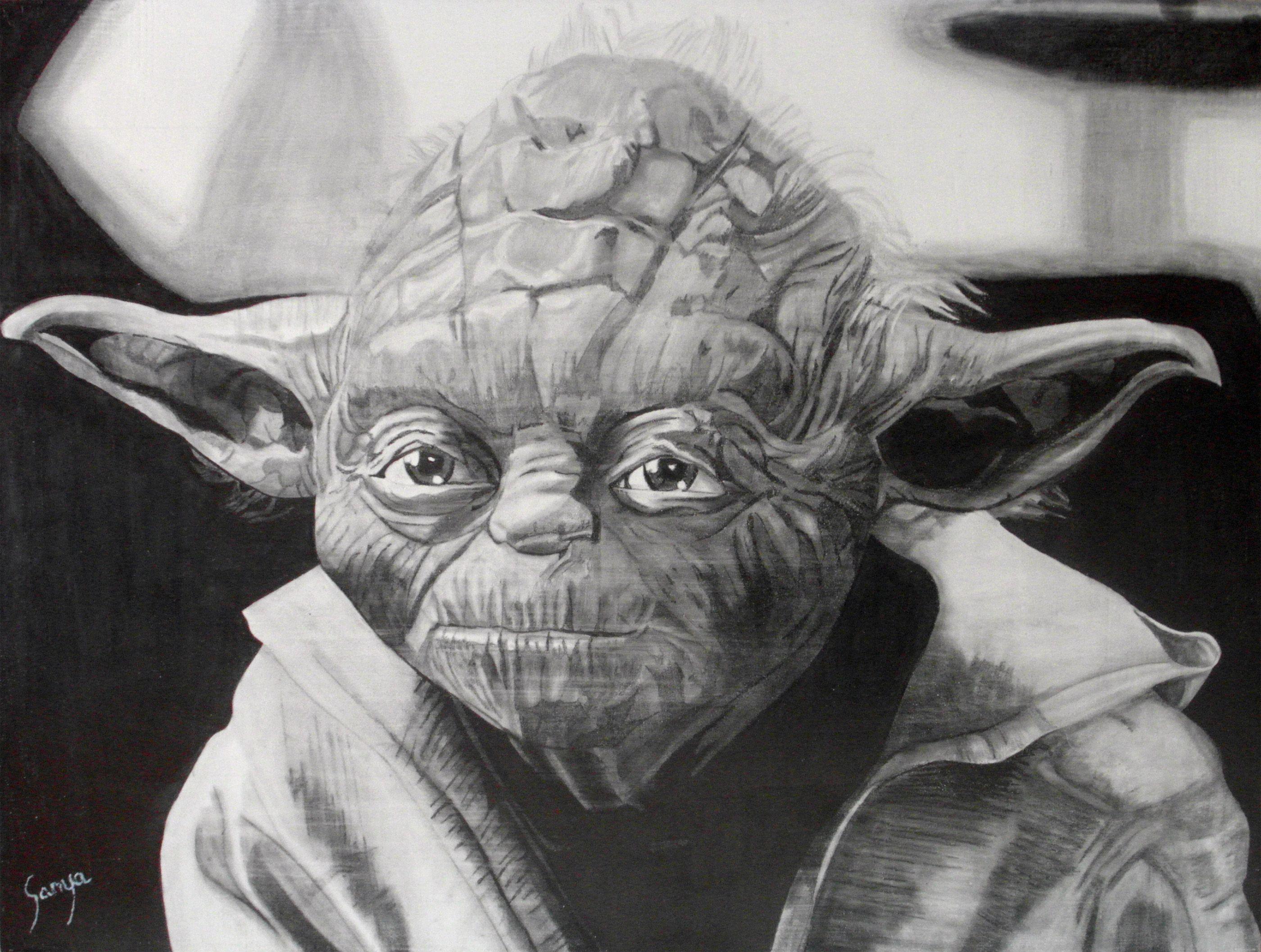 Yoda Star Wars Pencil Drawings