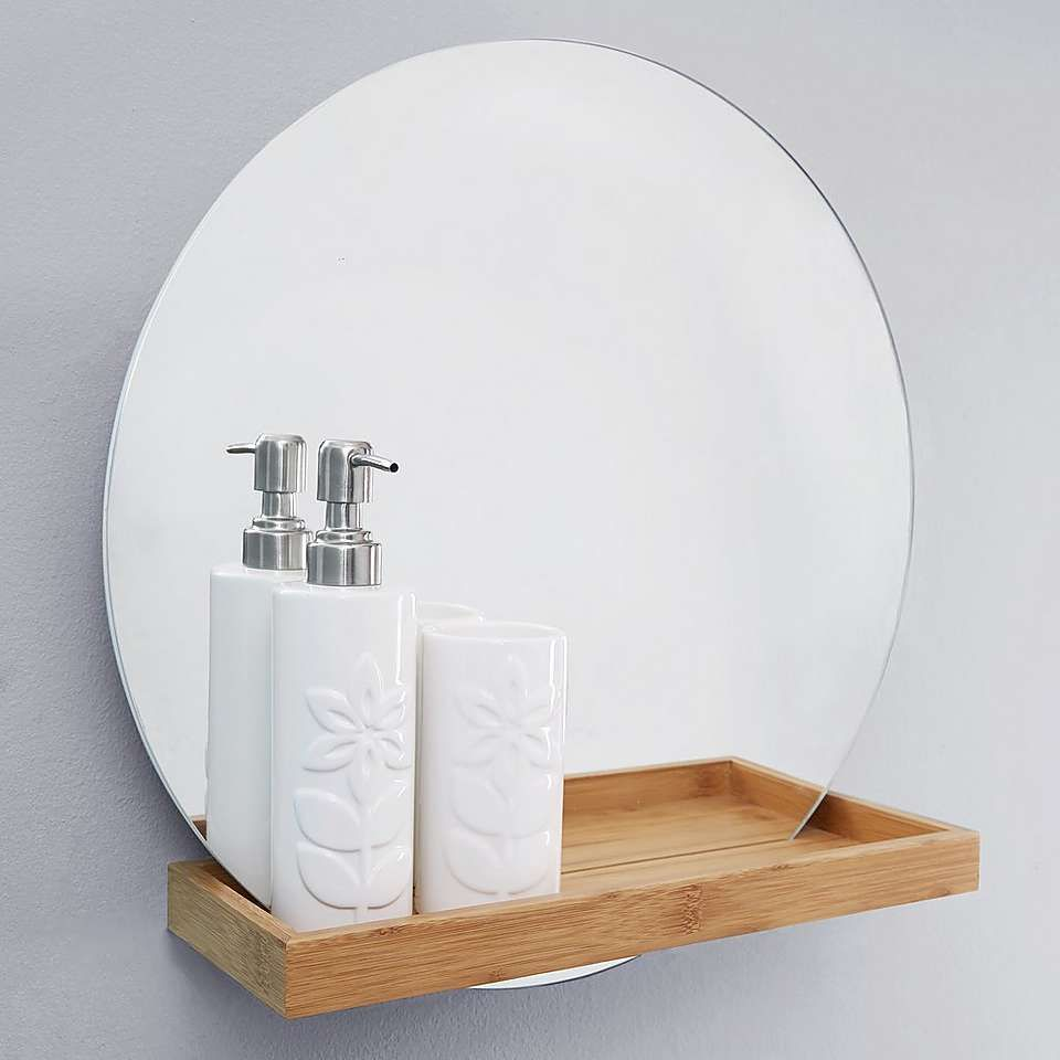 Elements Bathroom Mirror with Shelf | Bathroom mirrors, Shelves and ...