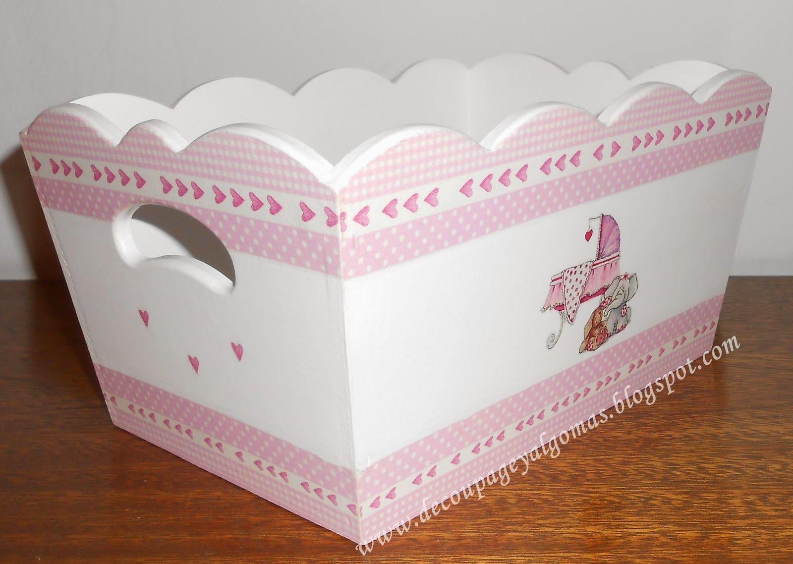 Im genes de cajas con decoupage para bebes pesquisa do - Cajas de carton decoradas para bebes ...
