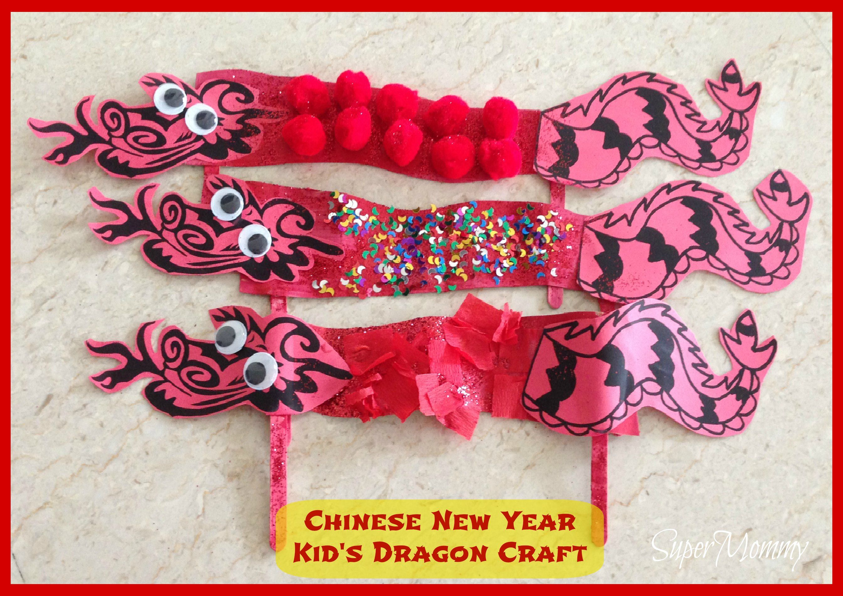 Easy Kid S Craft Chinese New Year Dragon Chinese New Year Kids Dragon Crafts Chinese New Year Crafts For Kids