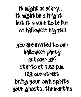 Image Result For Halloween Poem Invitations