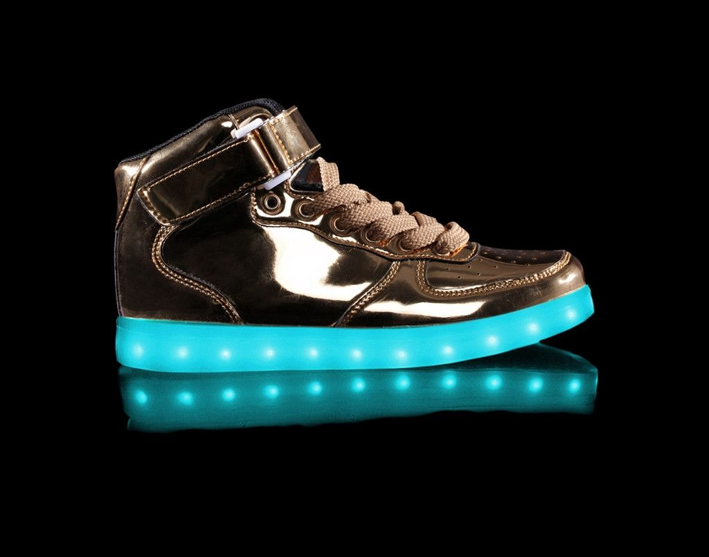 dc3576b35417f7 Light Up Shoes Kids Metallic Super Nova (Gold)