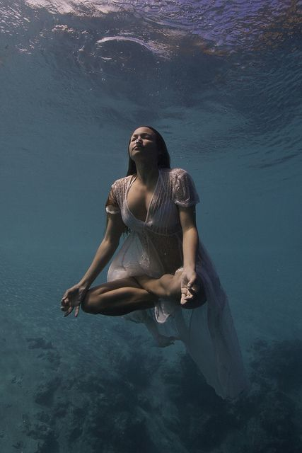 yoga zen submerged ; )  (article link: Top 10 Gentle Yoga Poses You Can Try Right Now)