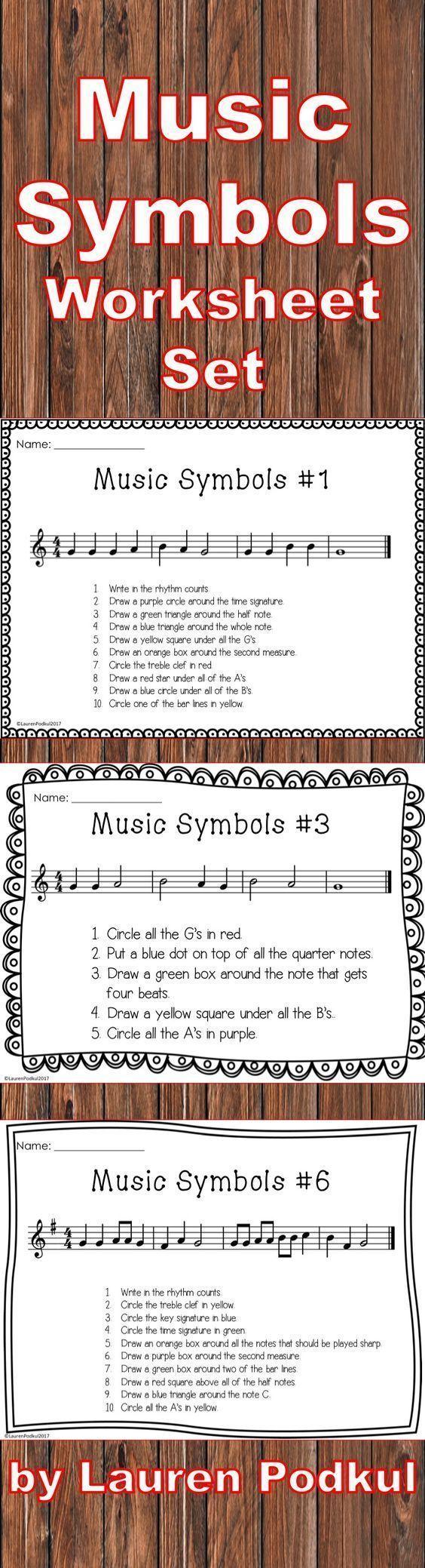 Music Symbols Worksheet Beginner Music Humanities Lesson Elements Of