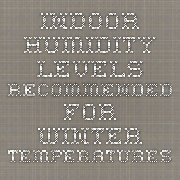 Fixit What Is The Ideal Winter Indoor Humidity Level Humidity Levels Humidity Winter Temperature