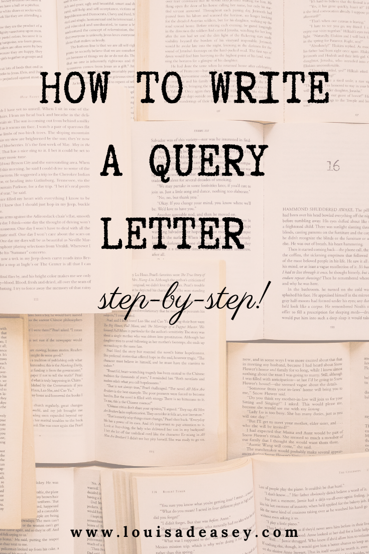 How to write a query letter - Louisa Deasey Author  Book writing