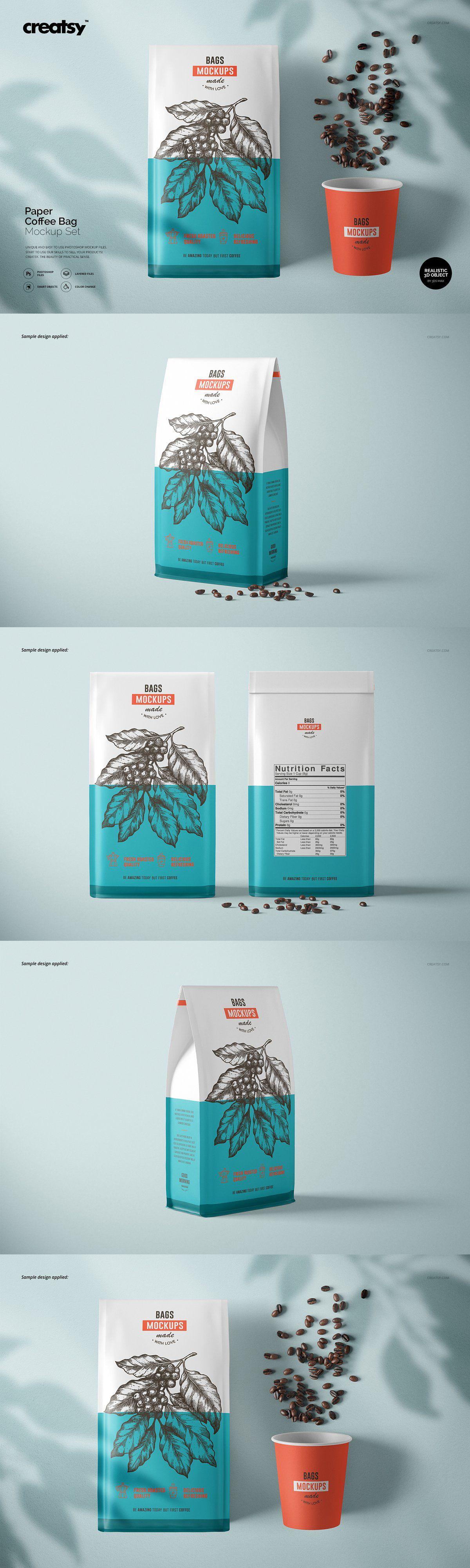 Download 8 Paper Coffee Bag Mockup Set Mockup Psd Mockups Stationery Mockups Design Product Mockups Mockup Design Testimonials Design Branding Mockups