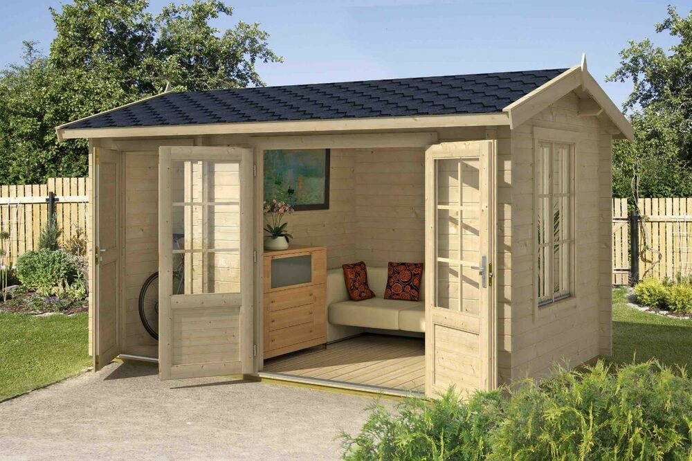 Details zu 44mm Gartenhaus Wrexham Gerätehaus ca 410x260