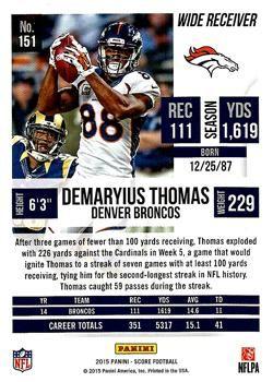 2015 Score #151 Demaryius Thomas Back