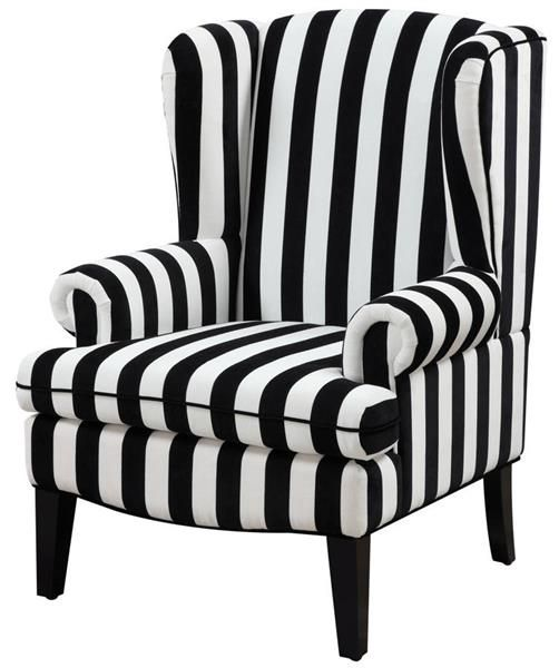 paris modern white black velvet wingback chair
