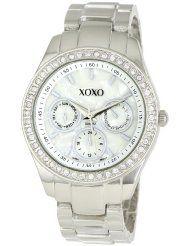 xoxo accent silver tone bracelet watch