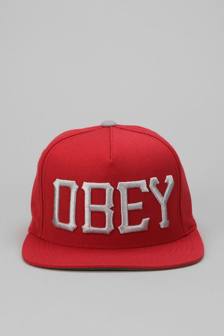 crop top with shorts   this  ) OBEY Cedar Snapback Hat  UrbanOutfitters b48bed053f3e