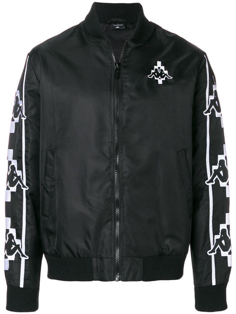 Marcelo Burlon County Of Milan Kappa Bomber Jacket Farfetch Black Bomber Jacket Jackets Bomber Jacket [ 1067 x 800 Pixel ]