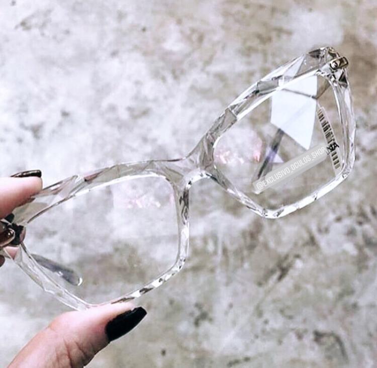 Oculos Armacao De Grau Feminino Transparente Cristal Com Imagens