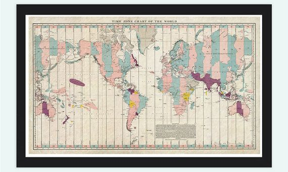 Old world map atlas time zone chart 1937 vintage antique time old world map atlas time zone chart 1937 vintage antique sciox Image collections