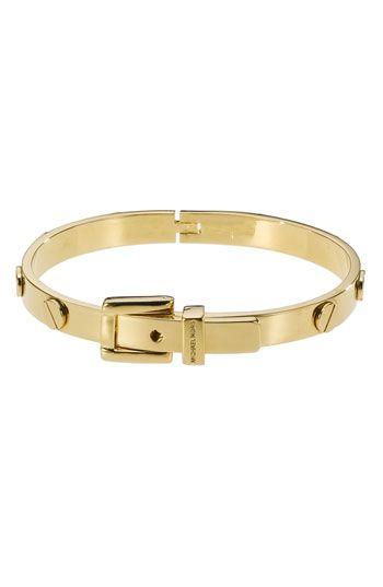 Michael Kors Buckle Bangle   Michael kors bracelet, Handbags