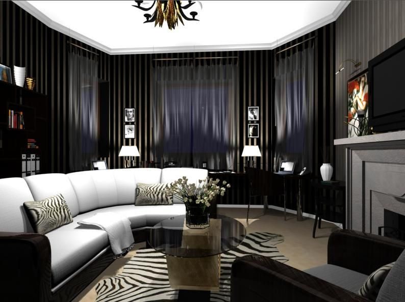 Art Deco Living Room. Art Deco living room  Hmmm Christian s Fifty