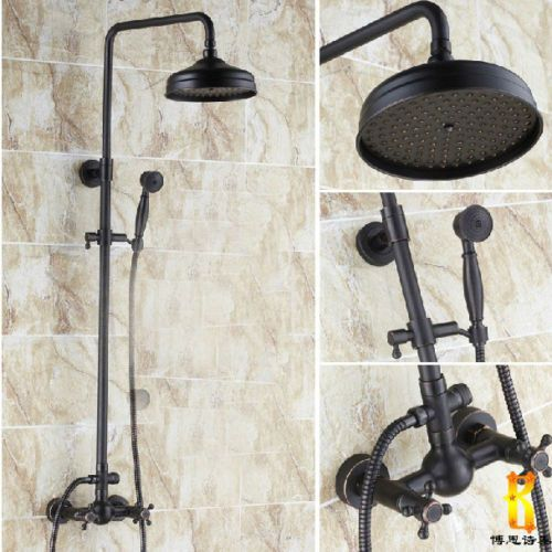 High End Oil Rubbed Bronze Shower Faucet Set W Rainfall Handheld