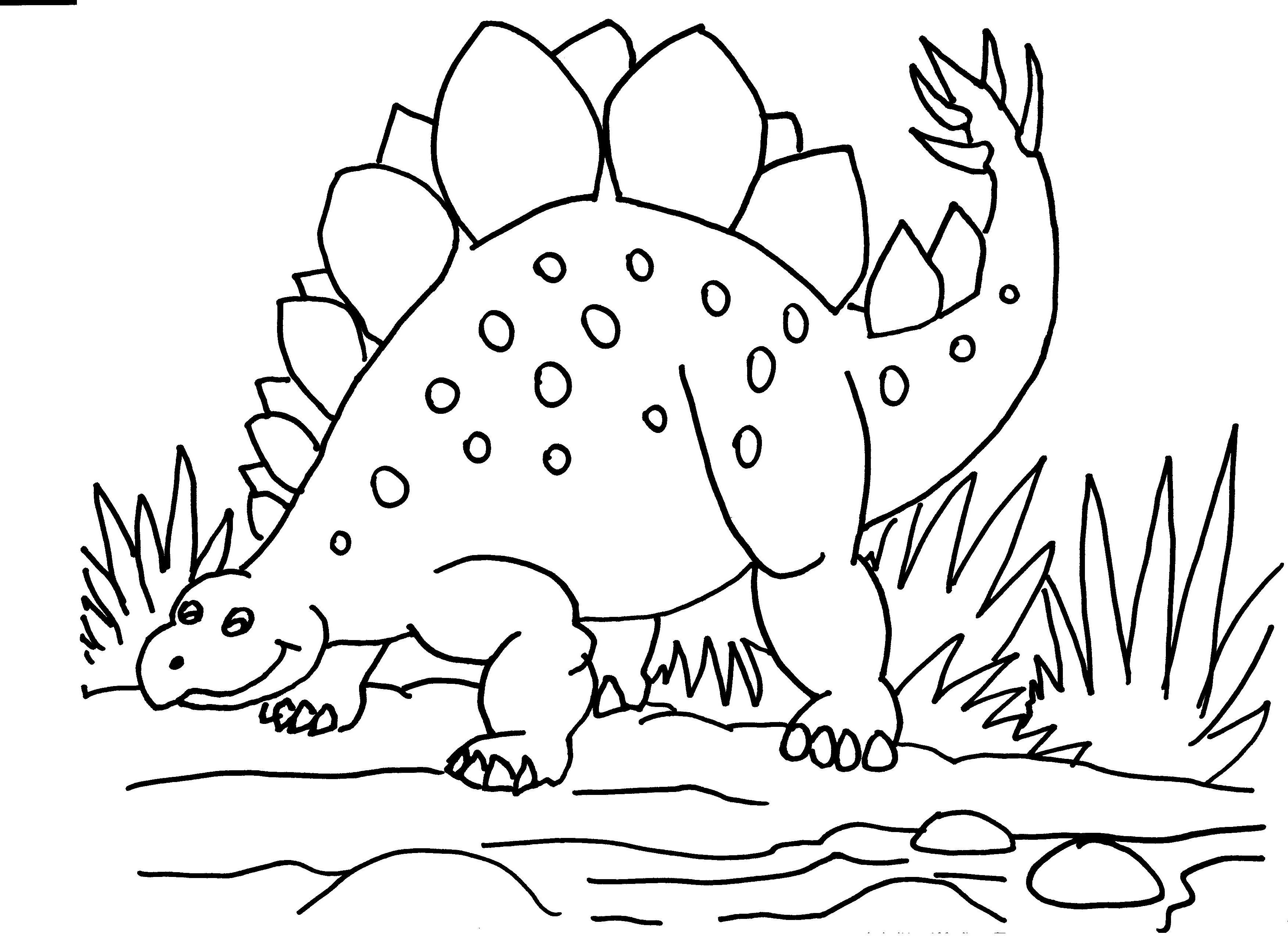 Stegosaurus Colouring PagesColoring