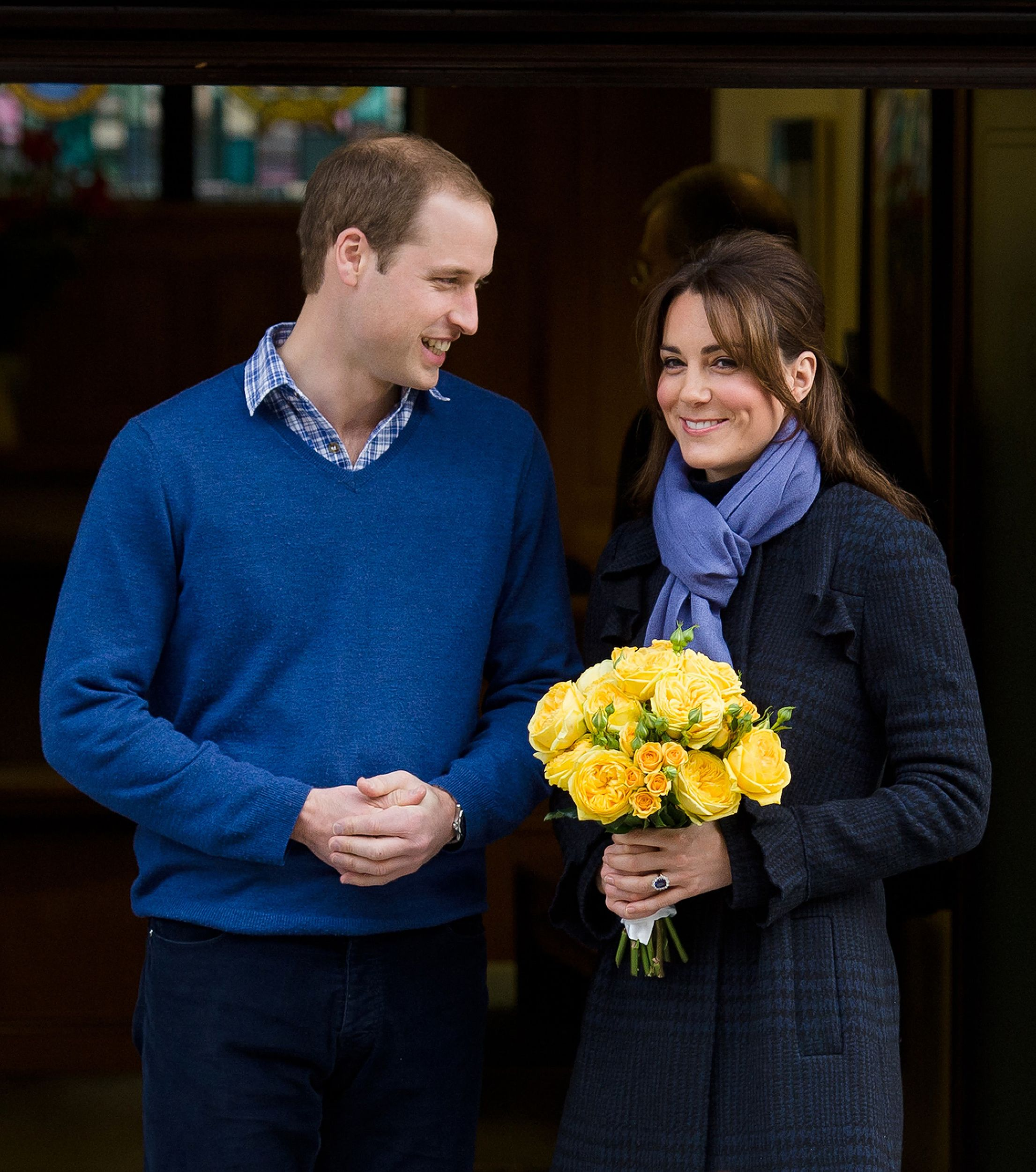 When doting Prince William led his wife from the hospital, just after they announced she was pregnant. via @stylelist