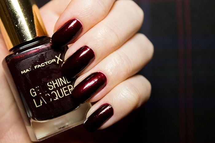 Max Factor Gel Shine Lacquer In Sheen Merlot Beauty Aesthetic Uk Scottish Makeup Blog Review Nails Nailpolish
