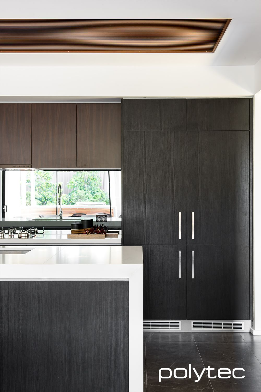 Doors And Panels In Black Wenge Ravine And Jamaican Walnut Matt Modern Black Kitchen Modern Kitchen Design Walnut Kitchen Cabinets