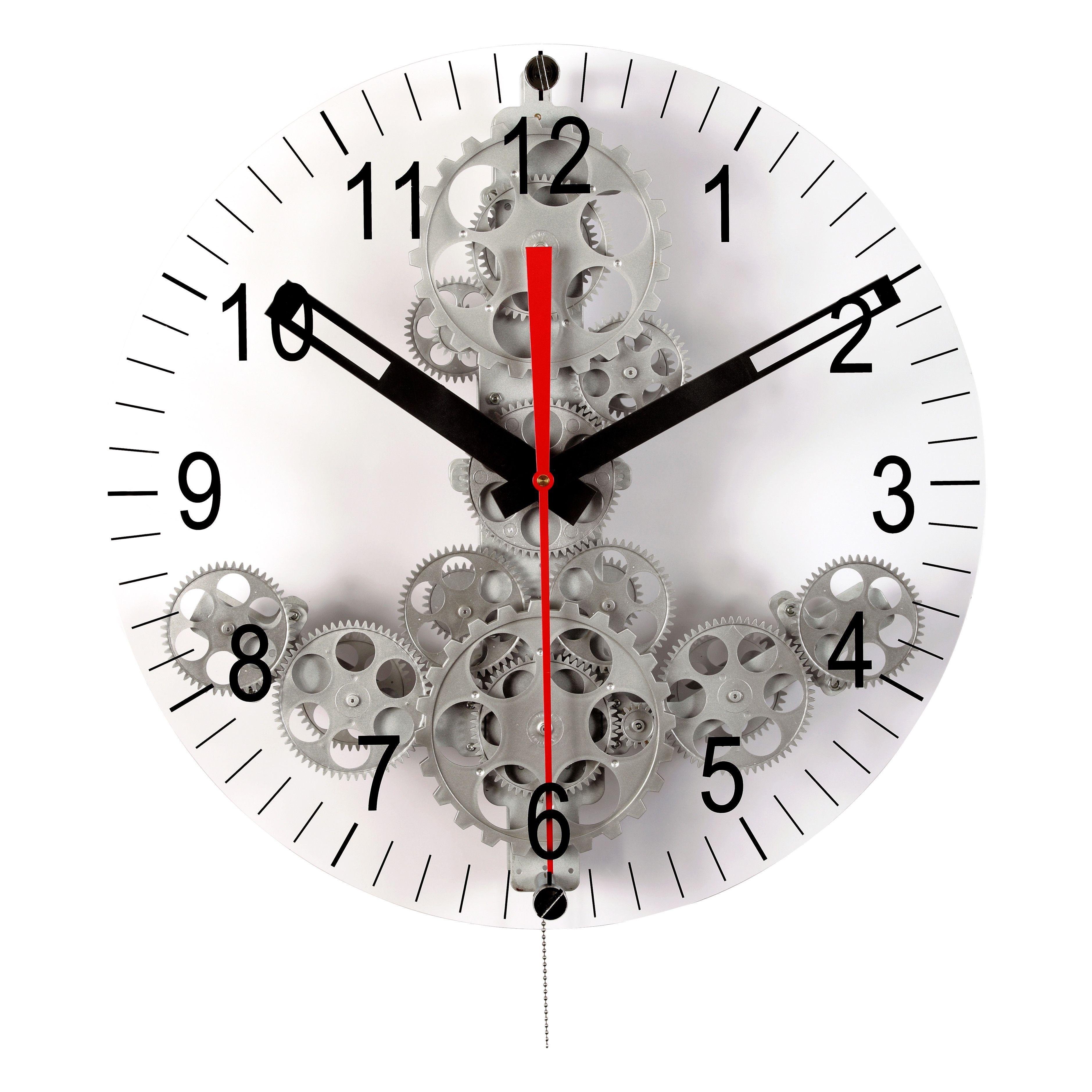 Maples Clock Moving Gear Wall Clock Gear Wall Clock Contemporary Wall Clock Clock