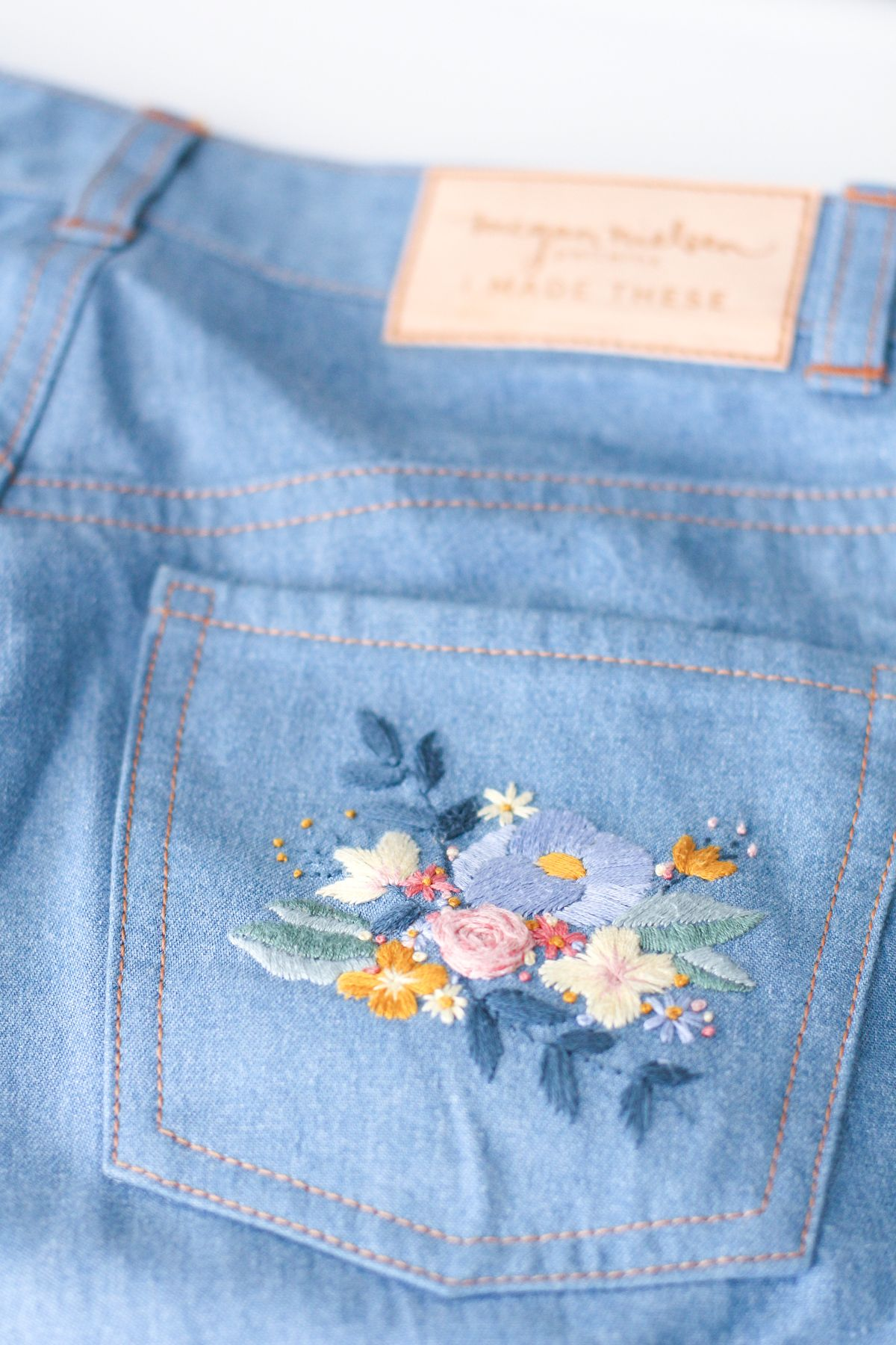 Tips for embroidered jeans — megan nielsen design diary